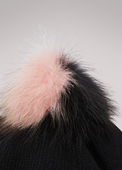 MIU MIUBonnet en laine cachemire et pompom en fourrure