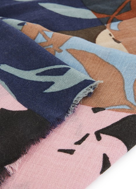 EPICESilk and cashmere scarf 80x190
