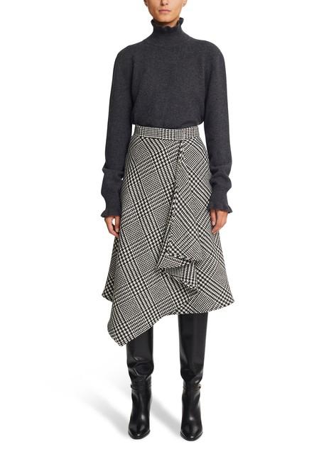 CELINEPrince of Wales check flared wraparound skirt