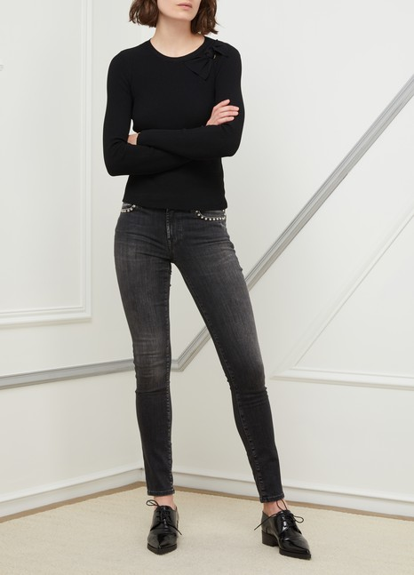 7 For All Mankind Studded Pyper skinny jeans