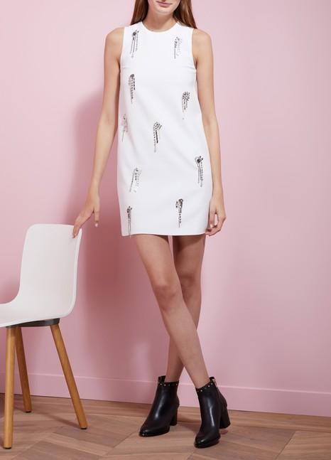 MSGMCady Crystal Embellished Dress