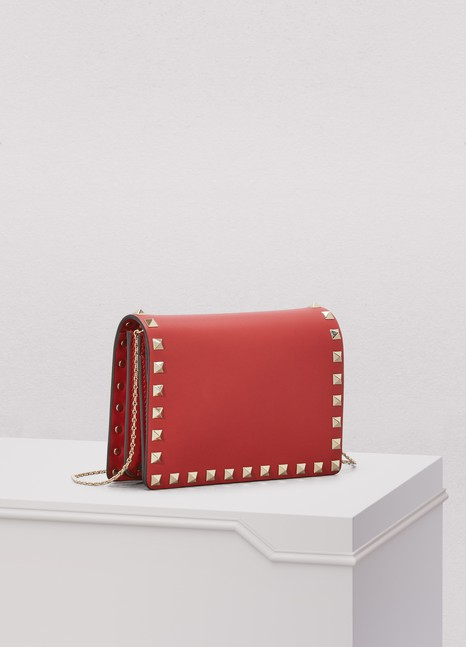 Valentino Studded Clutch with Chain