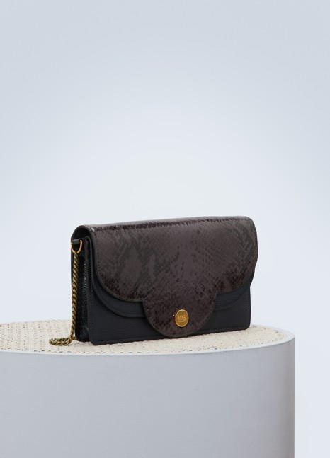 See by Chloé Leather Polina shoulder bag with chain