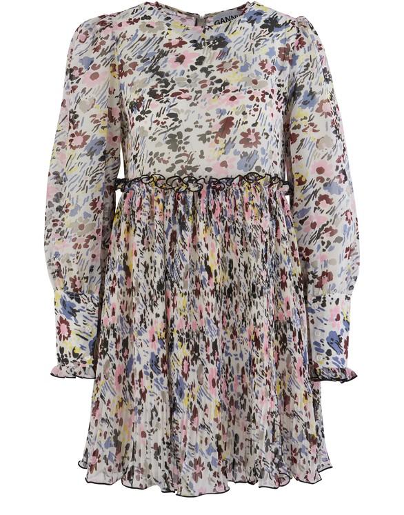 GANNIShort printed dress