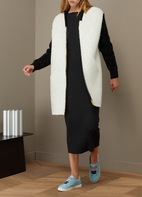 Lanvin Two-Tone Long Coat