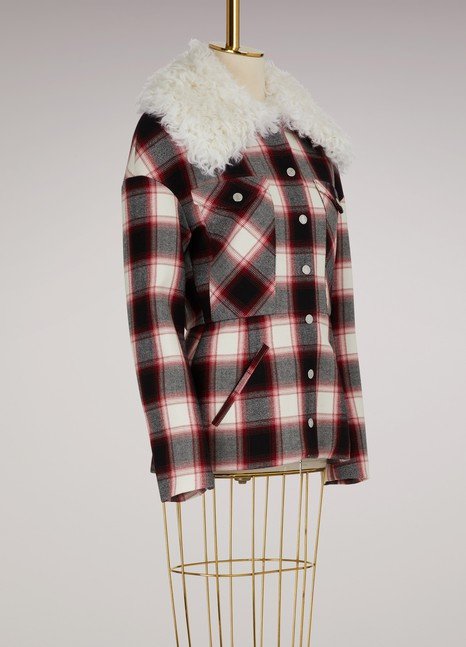 MonclerLuna check wool jacket