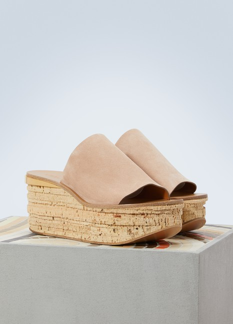 Chloé Camille leather mules