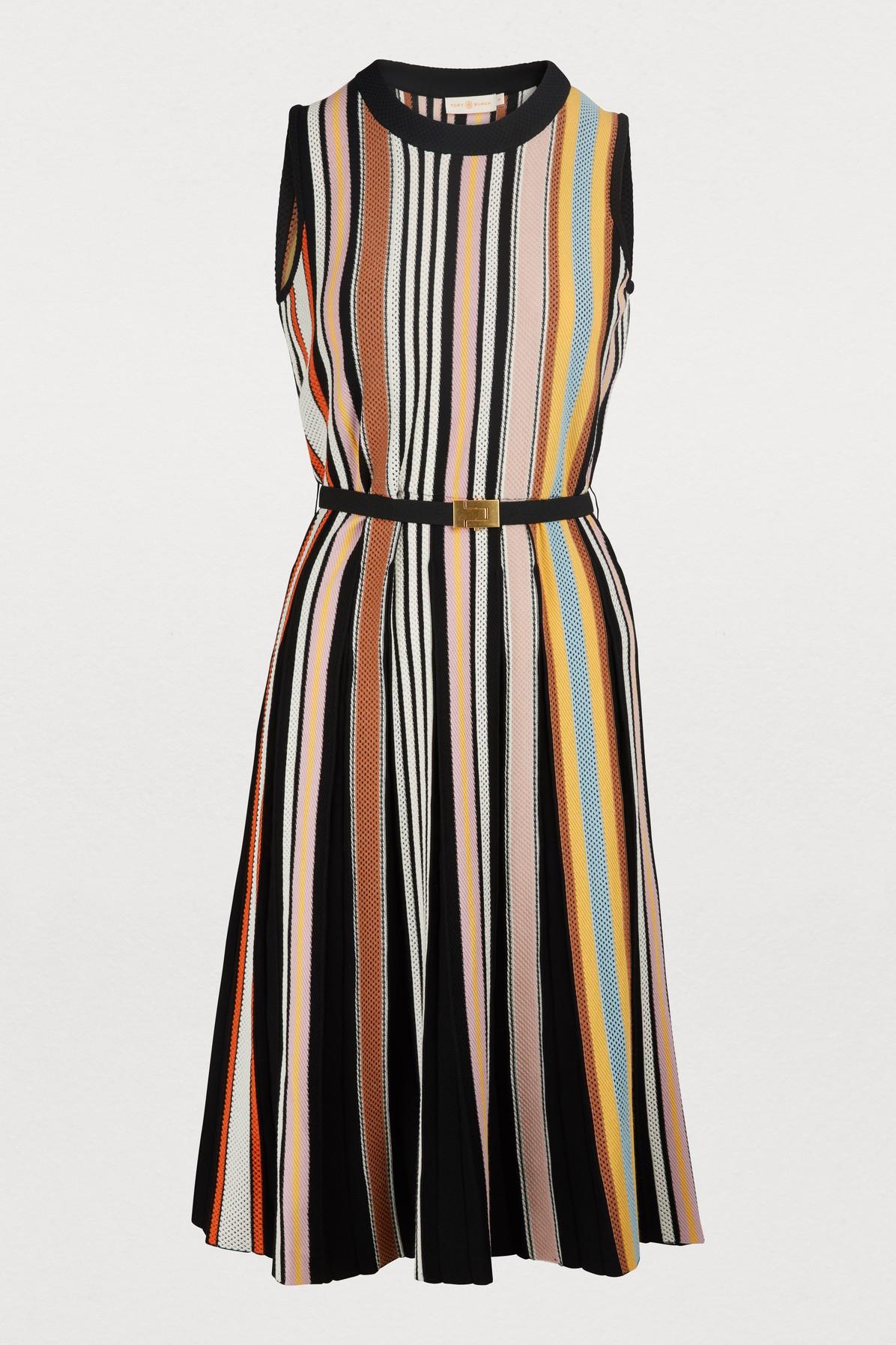 86f4db5f20e Tory Burch Striped Sleeveless Sweaterdress In Webbing Stripe