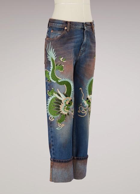 GucciJeans stretch délavé