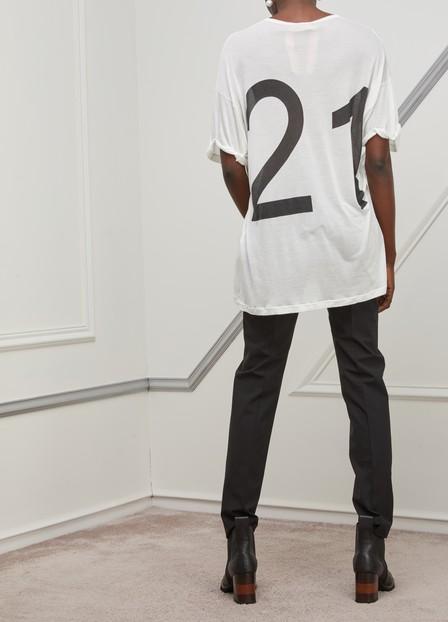 N°21 Nº21 T-Shirt Mit Logo-Print - Weiß In White