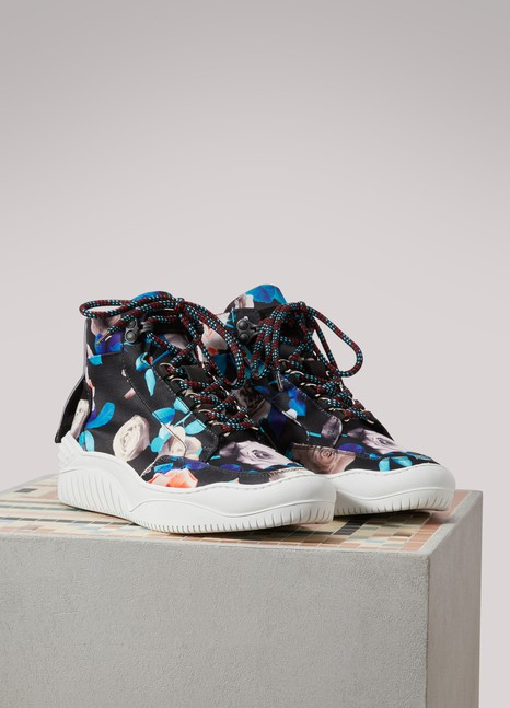 MSGM Baskets Trek imprimés rose