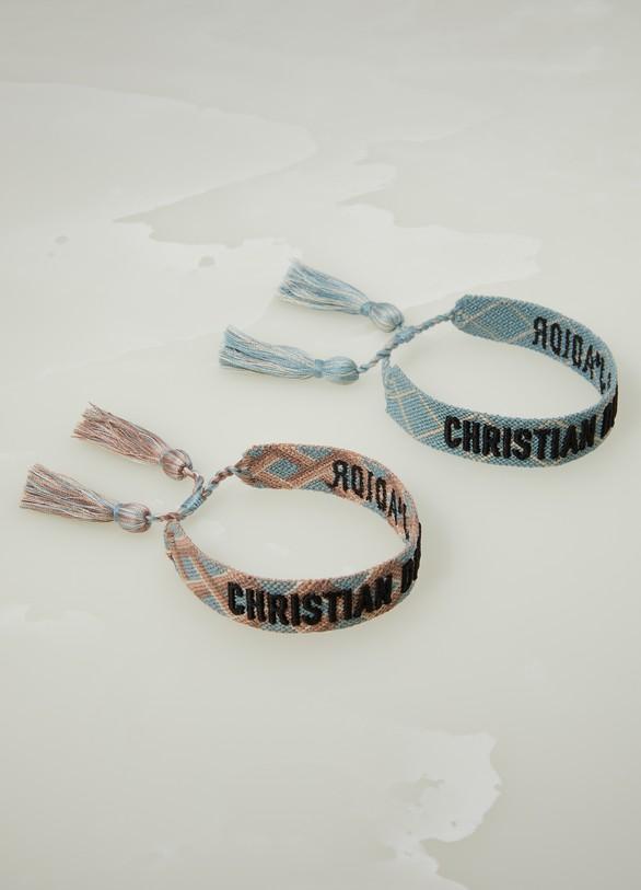 DiorSet de deux bracelets tissés Christian Dior « J'Adior »