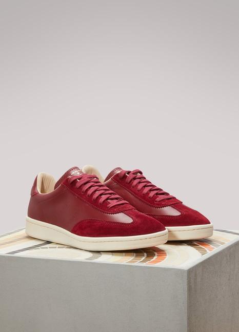 Zespà Nappa cerise bi-material sneakers LLxKLd