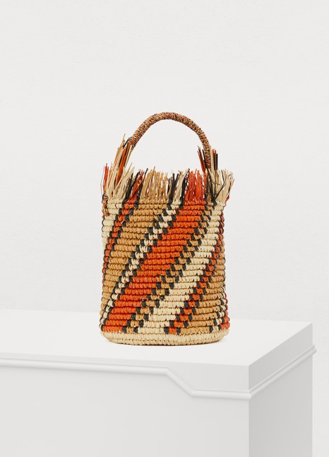 SENSI STUDIO Striped bucket basket