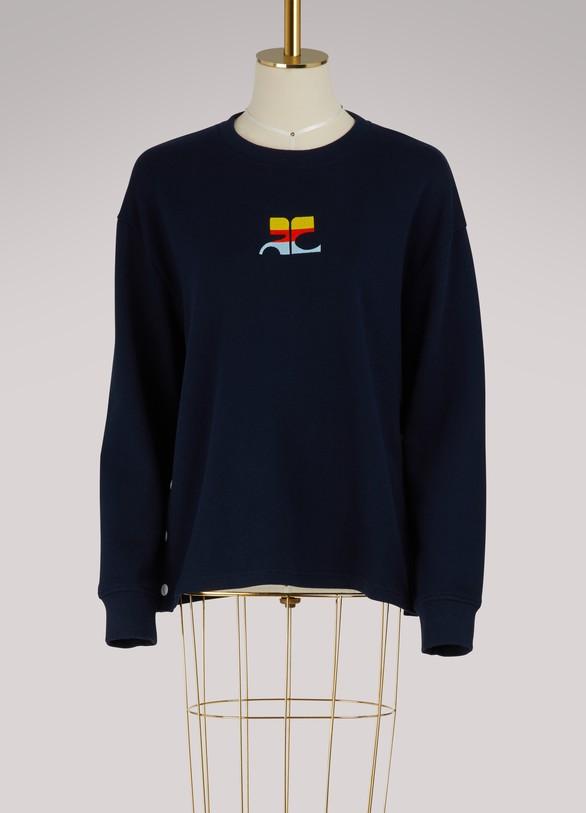 CourrègesSweatshirt à logo