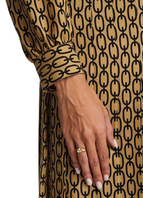 CELINEKnot Double ring in gold tone brass