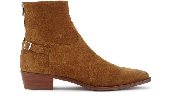 CELINEJacno buckled ankle boot in calfskin suede