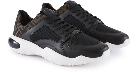 FENDILow -rise sneakers in FF technical fabric