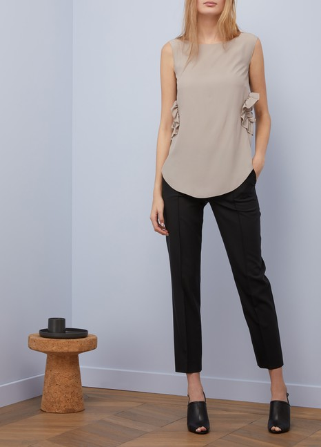 Nina Ricci Short sleeves crêpe top