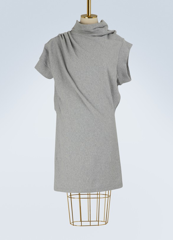 Maison Margiela Asymmetric sweatshirt dress