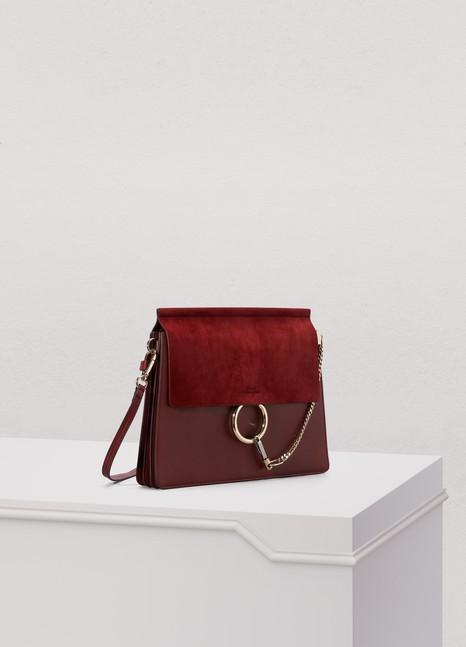 CHLOEFaye suede and smooth calfskin Shoulder Bag