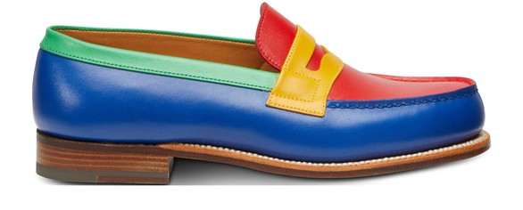 JM WESTON Box Leather Loafers