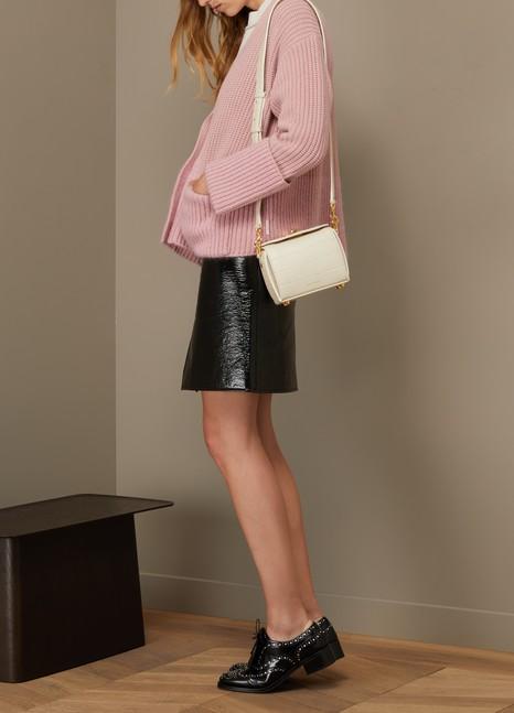 Alexander McQueenBox Bag 16 porté épaule en cuir effet croco