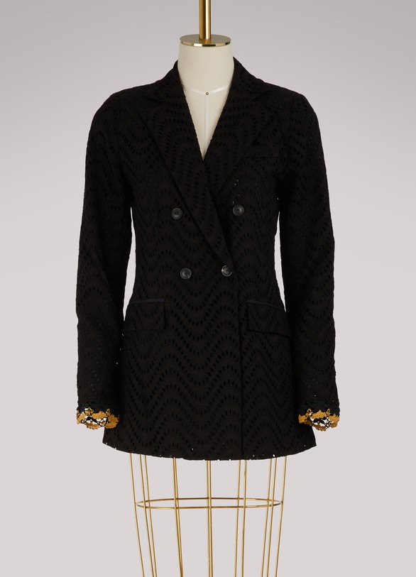 Jour/NéBroderie anglaise double breasted jacket
