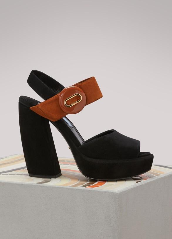 PradaBanana Platform Sandals