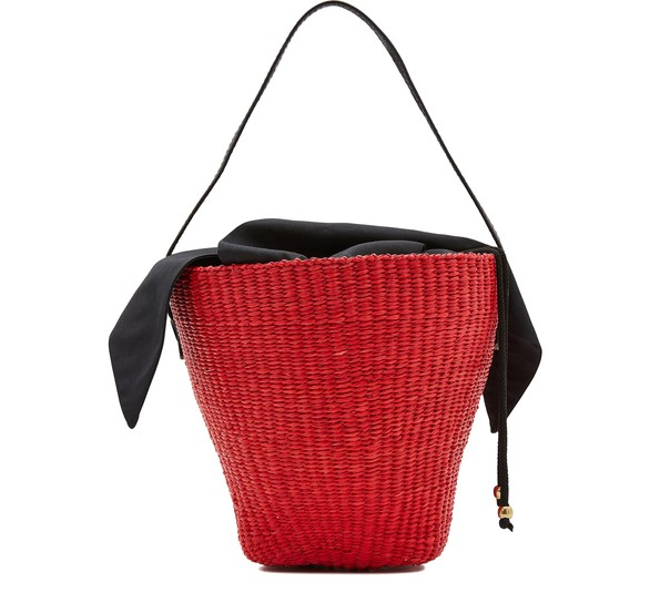 SENSI STUDIO Basket with leather handle