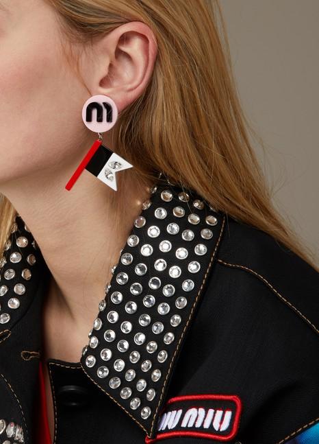 Miu MiuRace Flag earrings