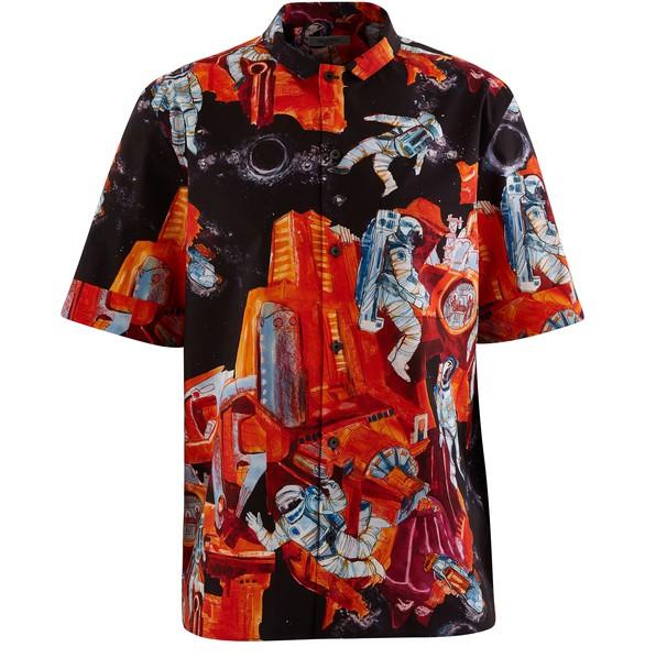 VALENTINOCosmonaut printed shirt