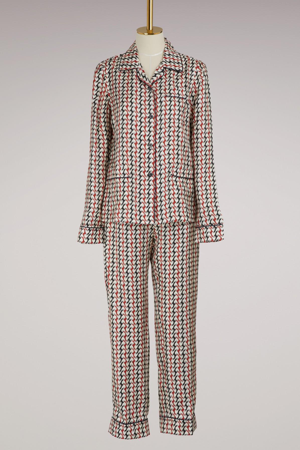 PRADA | Silk Pajamas | Goxip