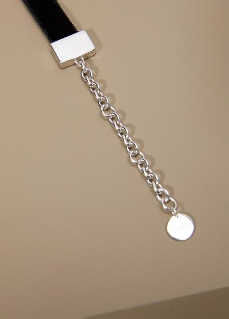 Miu MiuSilver and Velvet Choker Necklace