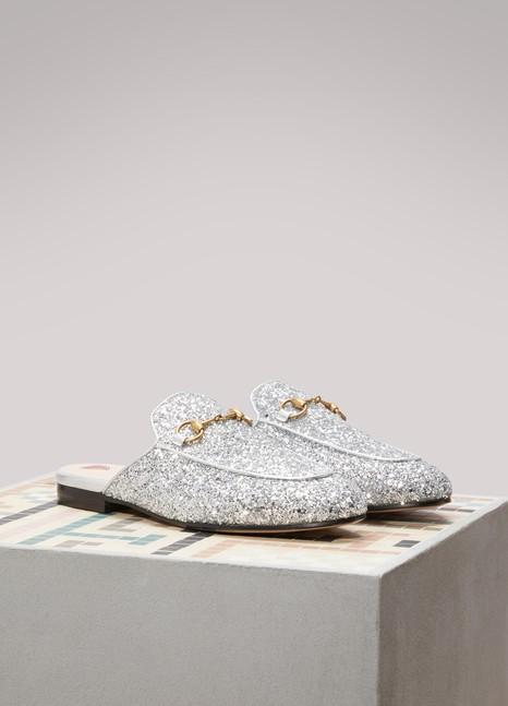 1122c454f Women's Glittering Princetown Mules | Gucci | 24 Sèvres
