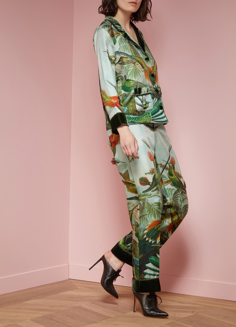 F.R.S For Restless Sleepers Etere jungle print silk pants