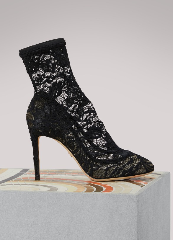 Dolce & GabbanaLace ankle boots