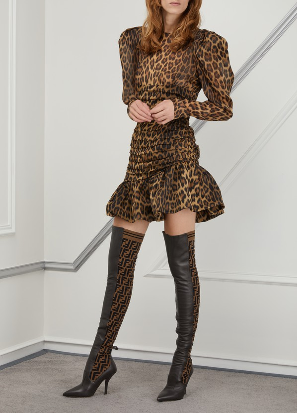 f6256c68b82 ... Fendi Rockoko heeled thigh-high boots ...