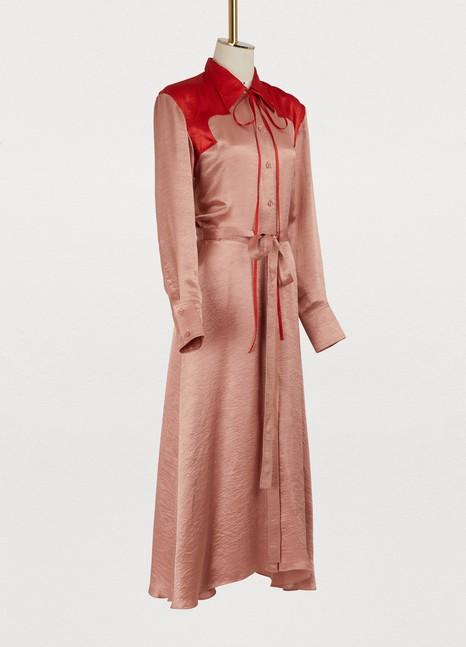 Bicolor satin dress Nina Ricci od78aJ85y