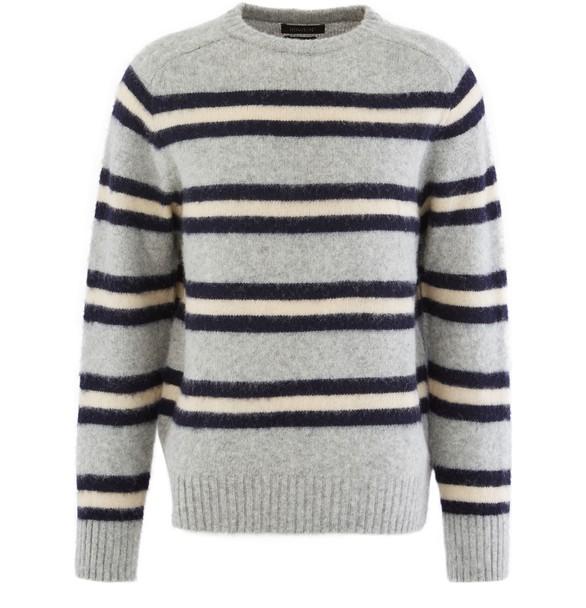 HOWLIN'Striped round neck jumper