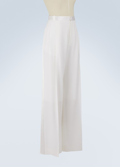 Givenchy Satin striped wide-leg pants