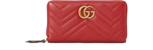 Gg Marmont Zippered Wallet by Gucci