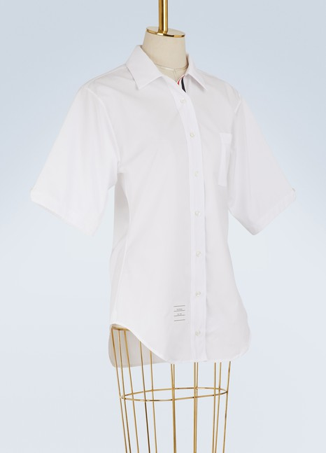 Thom Browne Poplin polo shirt