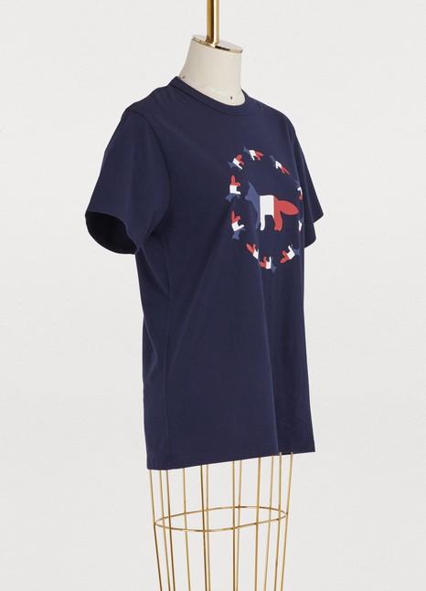 Maison KitsunéFox flag cotton T-shirt
