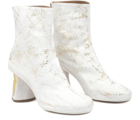 MAISON MARGIELAMetallic ankle boots