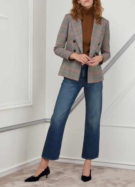 Ines de la Fressange ParisMaurice double-breasted wool jacket