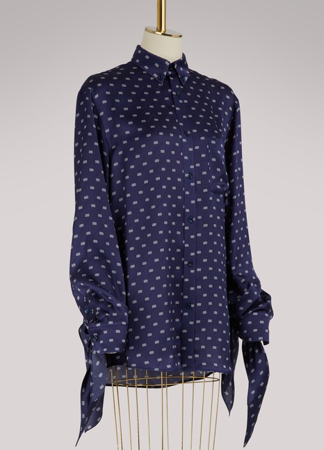 BalenciagaChemise oversize avec poignets noués