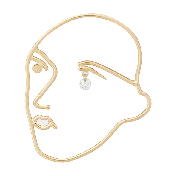 PERSEE Faces single earring