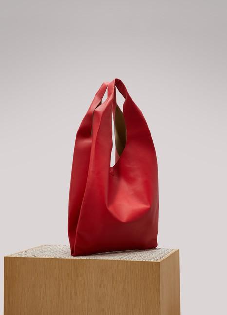 Maison MargielaLeather shopping bag
