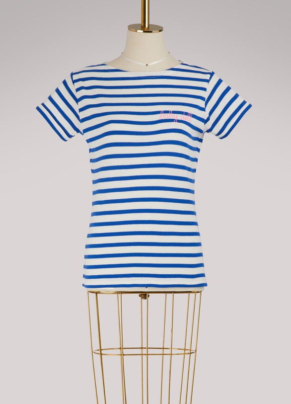 Baby doll striped cotton shirt Maison Labiche High Quality Outlet Fast Delivery For Sale For Sale Factory Outlet glFW0HWJ